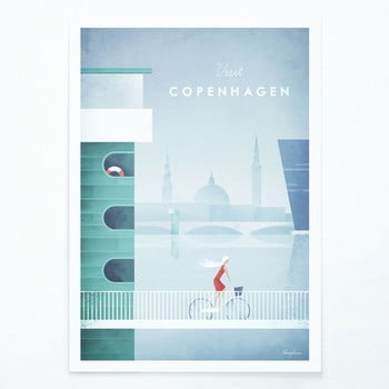 Poster Travelposter Copenhagen, A2 poza bonami.ro
