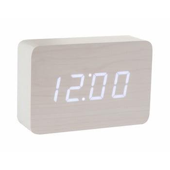 Ceas deșteptător cu LED BrickClickClock,alb bonami.ro