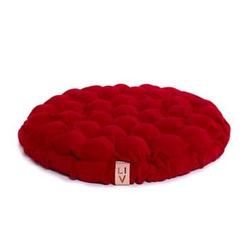 Pernă relaxare cu bile de masaj Linda Vrňáková Bloom, Ø 75 cm, roșu închis imagine
