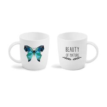 Cană cu mesaj imprimat față - verso Vialli Design Butterfly, 370 ml bonami.ro