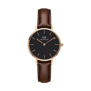 Ceas de damă Daniel Wellington Petite Bristol, ⌀ 28 mm, negru-roz auriu bonami.ro