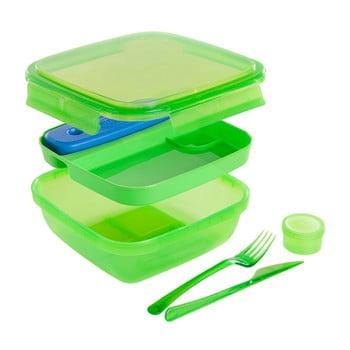 Cutie prânz cu tacâmuri Snips Lunch, 1,5 l, verde poza bonami.ro