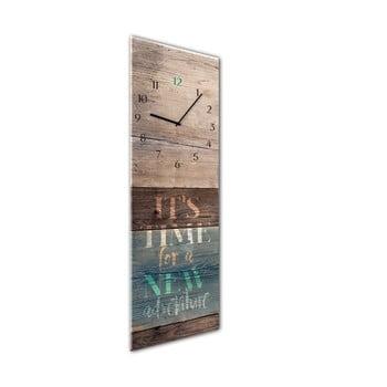 Ceas de perete Styler Glassclock Adventure, 20 x 60 cm bonami.ro