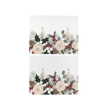 Set 2 șervețele de Crăciun din bumbac Butter Kings Fir Branches, 45 x 35 cm bonami.ro