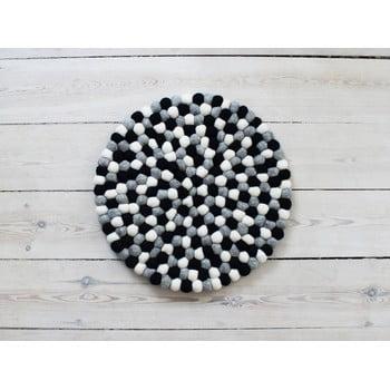 Pernă pentru scaun cu bile din lână Wooldot Ball Chair Pad, ⌀ 39 cm, alb - negru poza bonami.ro