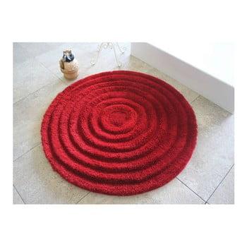 Covoraș de baie Confetti Bathmats Ecru, Ø 90 cm, roșu bonami.ro