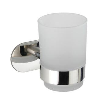 Recipient de perete pentru periuțe de dinți cu suport din oțel inoxidabil Wenko Uno Bosio Turbo-Loc®, alb poza bonami.ro