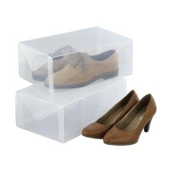 Set 2 cutii pentru depozitarea pantofilor Wenko Pack poza bonami.ro