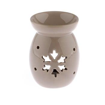 Lampă aromaterapie din ceramică cu model de fulg de nea Dakls, bej, înălțime 14 cm bonami.ro