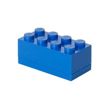 Cutie depozitare LEGO® Mini Box Blue Lungo, albastru poza bonami.ro