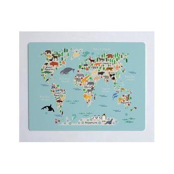 Protecție pentru masă sau birou Little Nice Things World Map, 55 x 35 cm poza bonami.ro