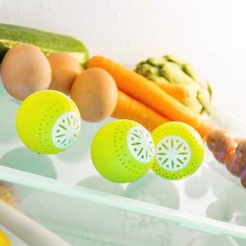 Set 3 bile pentru îndepărtarea mirosului neplăcut din frigider InnovaGoods poza bonami.ro