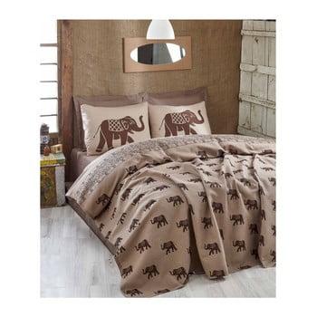 Cuvertură subțire pentru pat Fil Brown, 200 x 235 cm bonami.ro
