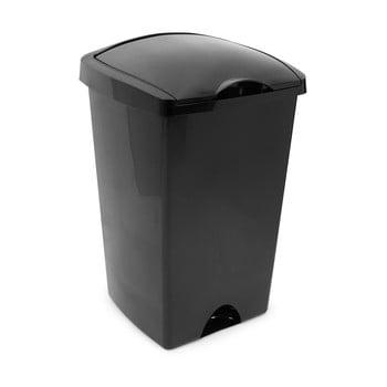 Coș de gunoi cu capac pe balamale Addis, 38 x 34 x 59 cm, negru bonami.ro