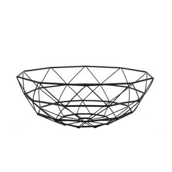 Fuctieră PT LIVING Diamond, ⌀ 35 cm, negru bonami.ro