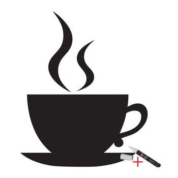 Set autocolant tip tăbliță de scris și marker Ambience Coffee poza bonami.ro