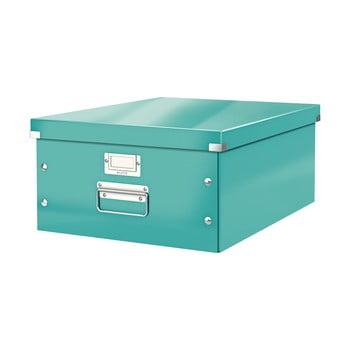 Cutie depozitare Leitz Universal, lungime 48 cm, albastru turcoaz bonami.ro