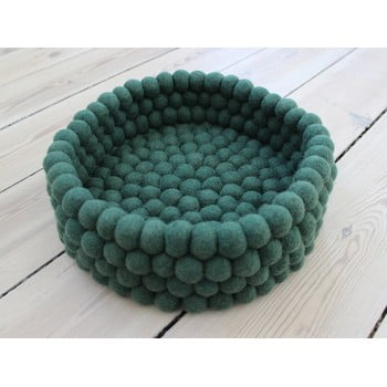 Coș depozitare cu bile din lână Wooldot Ball Basket, ⌀ 28 cm, verde închis poza bonami.ro
