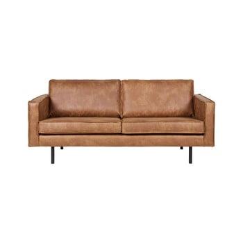Canapea cu 2 locuri cu husă din piele reciclată BePureHome Rodeo, maro imagine