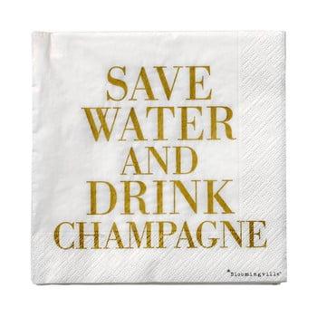 Set 20 șervețele din hârtie Bloomingville Champagne, 33 x 33 cm bonami.ro
