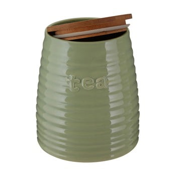 Recipient pentru ceai cu capac din bambus Premier Housewares Winnie, 950 ml, verde bonami.ro