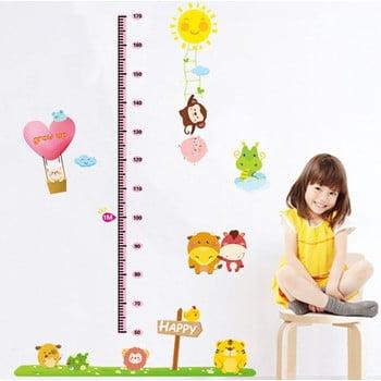 Autocolant metru de perete pentru copii Ambiance animăluțe bonami.ro