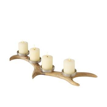 Suport lumânări pentru Crăciun din lemn de mango Boltze Roemje bonami.ro