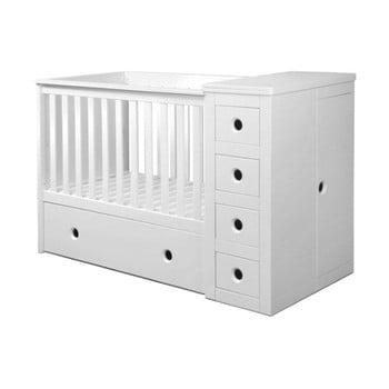 Pătuț pentru copii cu sertar BELLAMY Paso Doble,60x120cm, alb poza bonami.ro