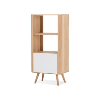 Bibliotecă din lemn de stejar Gazzda Ena, 60x42x125cm bonami.ro