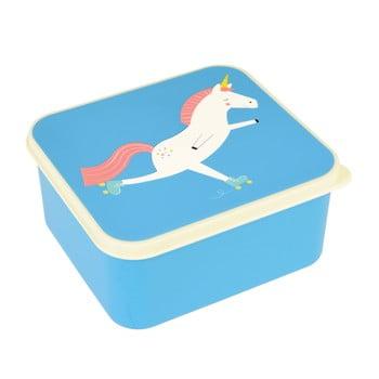 Cutie pentru prânz cu motiv inorog Rex London Magical Unicorn, albastru poza bonami.ro