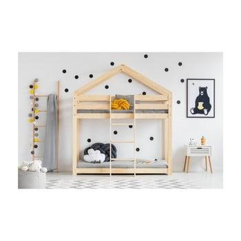 Cadru pat supraetajat din lemn de pin, în formă de căsuță Adeko Mila DMP, 90 x 190 cm bonami.ro