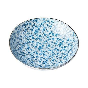 Farfurie adâncă din ceramică MIJ Daisy, ø21cm, alb - albastru bonami.ro