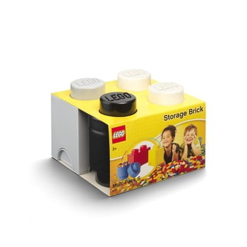 Set 3 cutii de depozitare din plastic LEGO®, 25 x 25,2 x 18,1 cm bonami.ro