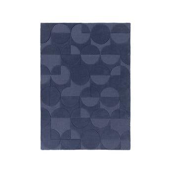 Covor din lână Flair Rugs Gigi, 120 x 170 cm, albastru imagine
