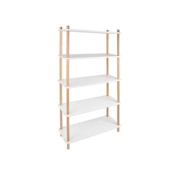Etajeră cu picioare din bambus Leitmotiv Cabinet Simplicity, alb bonami.ro