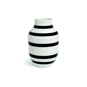 Vază din gresie ceramică Kähler Design Omaggio, înălțime 30,5 cm, negru - alb poza bonami.ro