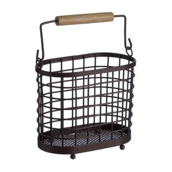 Suport metalic cu mânere din lemn pentru ustensilele de bucătărie Premier Housewares Vertex bonami.ro