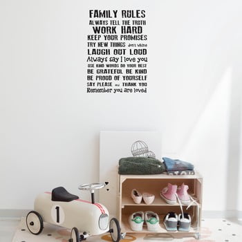 Autocolant de perete Really Nice Things Family Rules, 60 x 40 cm poza bonami.ro