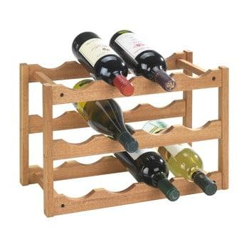 Suport din lemn de nuc pentru 12 sticle Wenko Norway bonami.ro