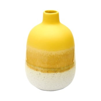 Vază Sass & Belle Bohemian Home Mojave, alb - galben poza bonami.ro