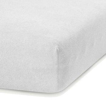 Cearceaf elastic AmeliaHome Ruby, 200 x 80-90 cm, alb poza bonami.ro