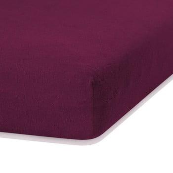 Cearceaf elastic AmeliaHome Ruby, 200 x 120-140 cm, violet poza bonami.ro