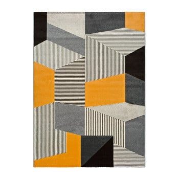 Covor Universal Leo Grey, 160 x 230 cm, gri-portocaliu imagine