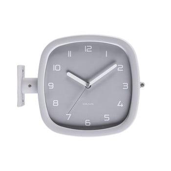 Ceas de perete Karlsson Slides, 29 x 24,5 cm, gri bonami.ro