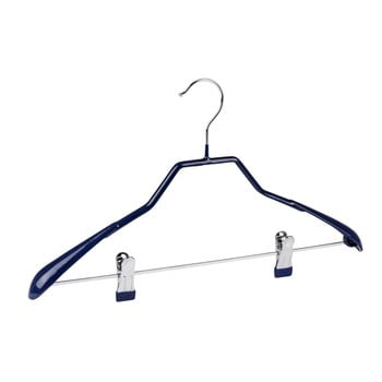 Umeraș antiderapant cu clipsuri pentru haine Wenko Hanger Shape, albastru bonami.ro