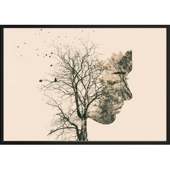 Poster DecoKing Girl Silhouette Tree, 100 x 70 cm bonami.ro