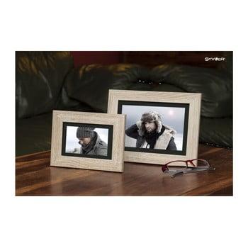 Ramă foto cu chenar negru pentru fotografii Styler Narvik, 36x46cm, maro deschis bonami.ro