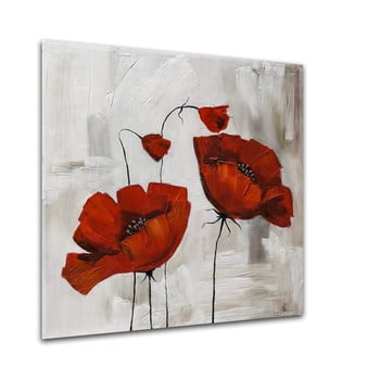 Tablou Styler Glasspik Flower Poppy Bloom, 20 x 20 cm bonami.ro
