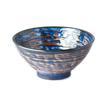 Bol din ceramică MIJ Copper Swirl, ø16 cm, albastru poza bonami.ro
