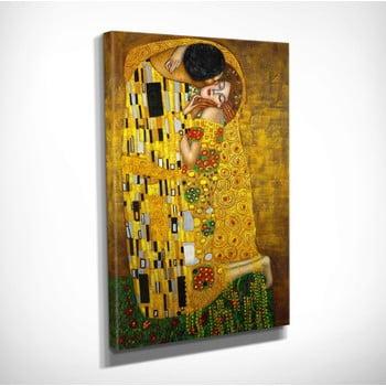 Reproducere tablou pe pânză Gustav Klimt The Kiss, 30 x 40 cm bonami.ro